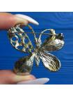 Брошь в форме бабочки с кристаллами