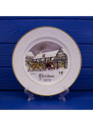 """Тарелка Royal Worcester """"Christmas Eve"""", Рождество 1979 года"""