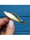 Брошь Napier в форме пера, качественного ювелирного сплава золотого оттенка