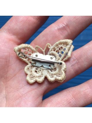 Брошь бабочка ручной работы