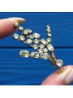 Роскошная винтажная брошь с кристаллами разной формы