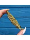 Брошь кружевная золотого оттенка