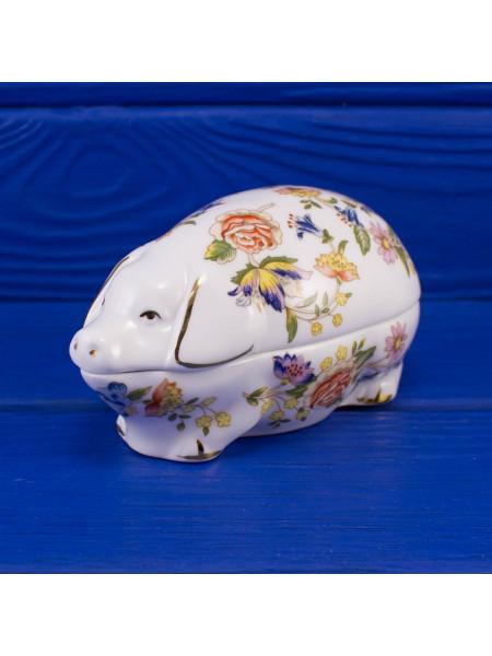Шкатулка Aynsley ДИЗАЙН COTTAGE GARDEN в форме свиньи