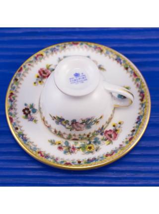 Миниатюрная чайная пара Coalport дизайн MING ROSE⠀