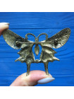 Брошь бабочка, украшенная эмалью и стразами
