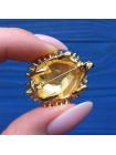 Брошь в форме ёжика с глазками кристаллами