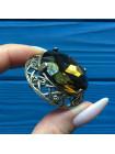 Брошь с крупным кристаллом #2