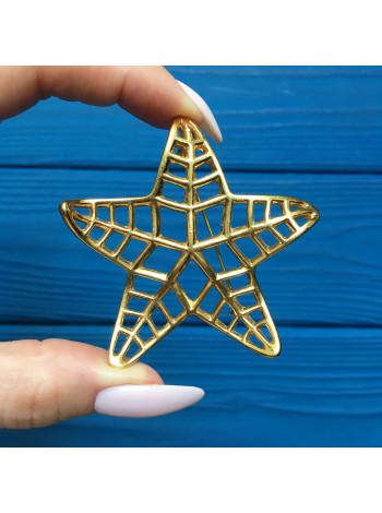 Эффектная брошь в виде морской звезды