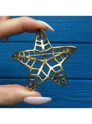 Брошь в виде морской звезды