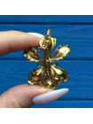 Брошь-подвеска Орхидея из Сингапура золото 22 карат #2