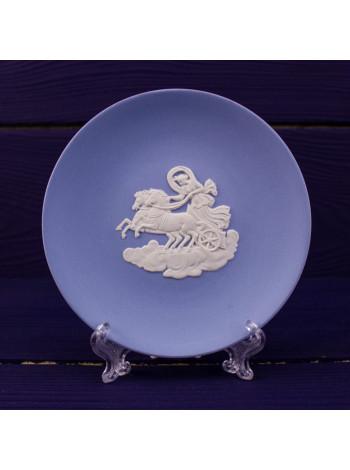 Блюдце WEDGWOOD круглое голубое