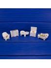 Коллекция фарфоровых миниатюр мебели