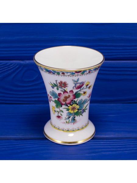 Фарфоровая ваза-стакан с нарядным рисунком дизайна Ming Rose от Coalport