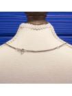 Эффектная серебряная подвеска с перламутром