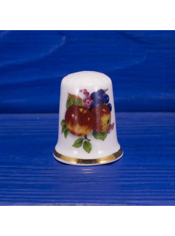 Коллекционный наперсток с фруктами и ягодами