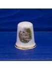 Коллекционный двусторонний наперсток из английского костяного фарфора