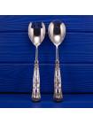 Роскошные английские ложки для салата с серебряными ручками