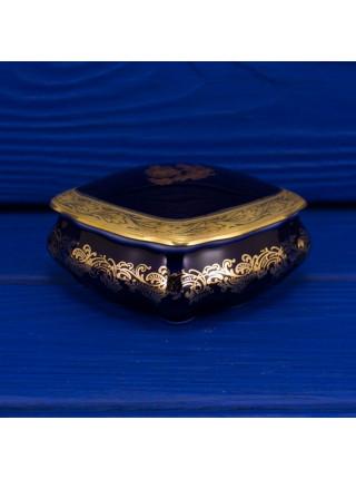Шкатулка Limoges кобальт с позолотой