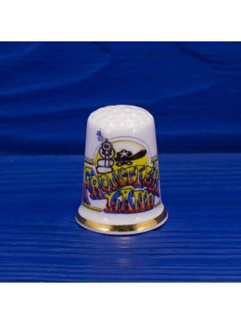 Коллекционный наперсток Frontierland от Birchcroft - часть Диснейленда, где посетители погружаются в атмосферу Дикого Запада