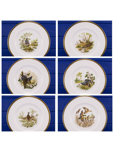 Комплект тарелок CROWN STAFFORDSHIRE серии BIRDS OF THE FIELDS & MORLAND