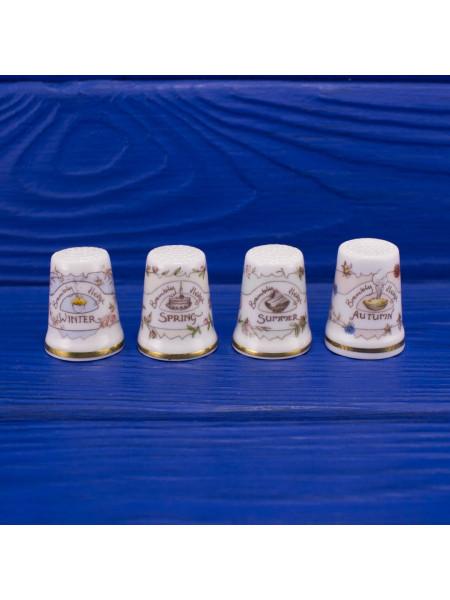 Комплект коллекционных фарфоровых наперстков Royal Doulton серии Времена Года