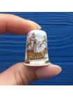 Пара коллекционных наперстков с историческими кораблями