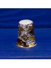 Коллекционный наперсток с нарядным рисунком из Английского костяного фарфора