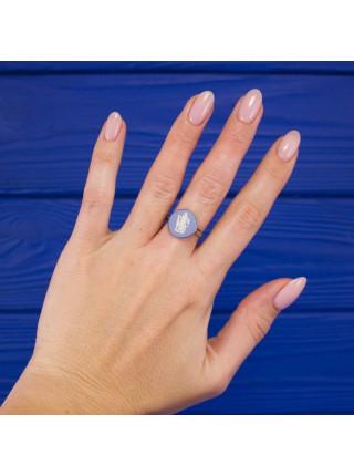 Винтажная голубая камея в серебре кольца от Wedgwood