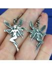 Очаровательные серебряные серьги в форме феечек