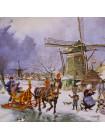 Голландская тарелка, расписанная вручную, 1984 года