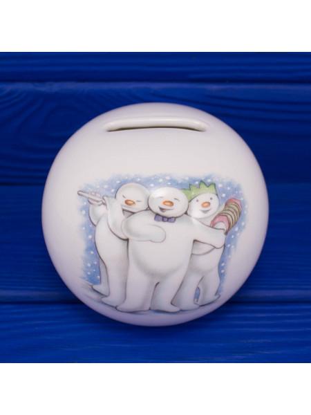 """Коллекционная копилка Royal Doulton дизайн, основанный на мультфильме """"Снеговик"""""""