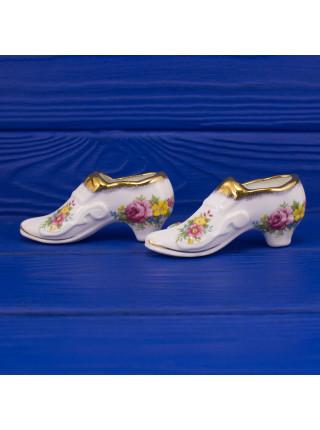 Пара туфелек на каблуке из английского фарфора от Lady Eleanor