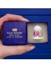 Коллекционный наперсток из костяного фарфора от Royal Adderley в оригинальной коробочке
