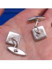 Серебряные запонки с перламутром