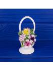 Фарфоровые цветы в корзине Royal Doulton