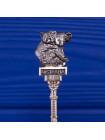 Винтажная посеребренная коллекционная ложечка из Австралии с коалой #2