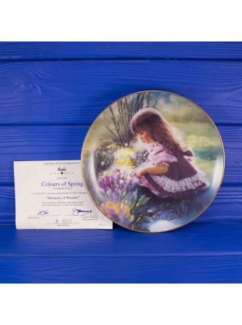 """Тарелка BORDER FINE ARTS № A0867 """"Colours of Spring"""" с сертификатом"""