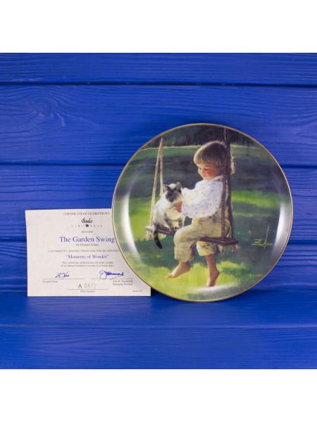 """Тарелка BORDER FINE ARTS № A0872 """"The Garden Swing"""" с сертификатом"""