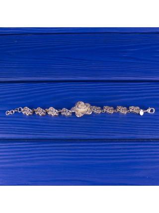 Роскошный объемный винтажный браслет в технике Филигрань