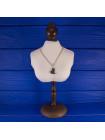 Очаровательный серебряный кулон с перламутром в форме сердца