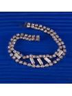 Сверкающий браслет с кристаллами разных форм