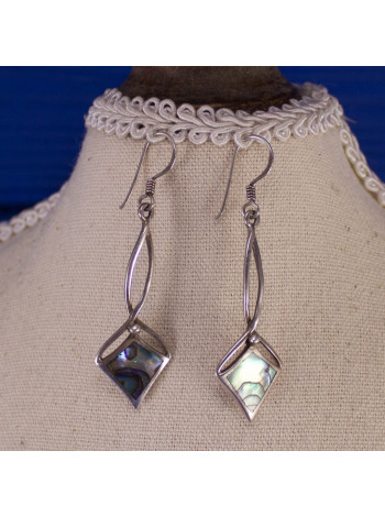 Нежные серебряные серьги с перламутром