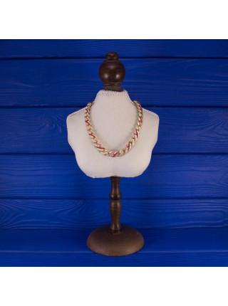 Стильно винтажное колье, украшенное эмалью