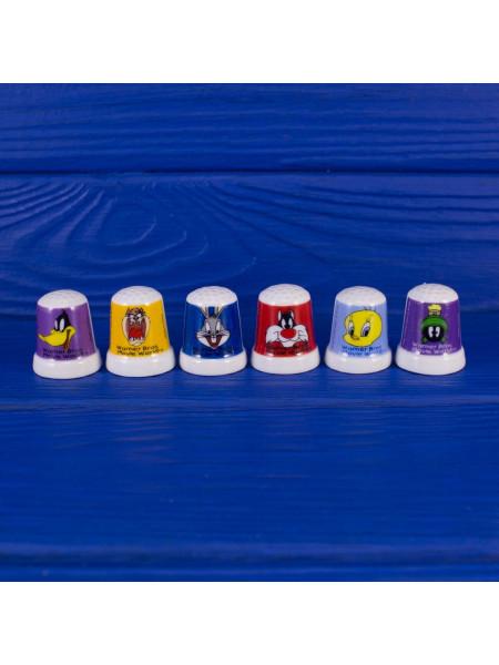 Коллекционные наперстки с персонажами мультфильмов  Warner Brothers