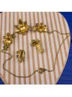 Роскошный винтажный комплект 50-х годов колье и клипсы с кристаллами двух оттенков в оригинальной коробочке