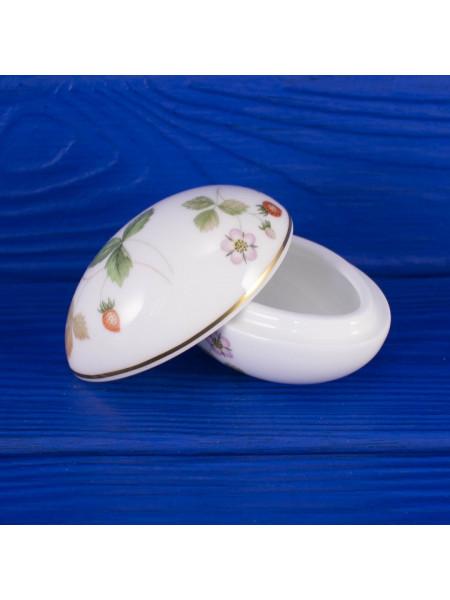 Шкатулка Wedgwood в форме яйца дизайн WILD STRAWBERRY