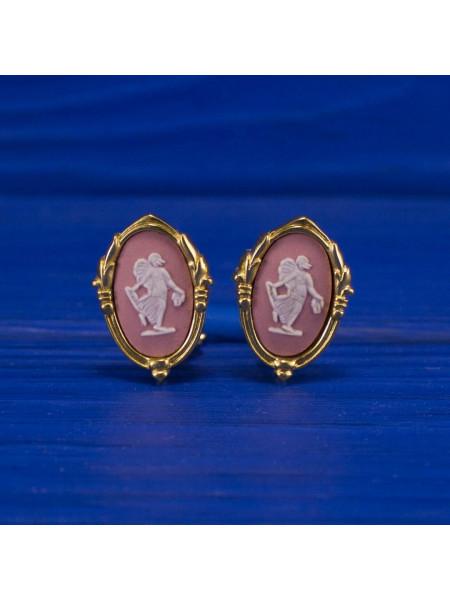 Клипсы Wedgwood розовый Jasper