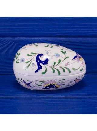 Шкатулка Coalport ДИЗАЙН MING ROSE форма яйца