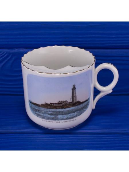 Кружка для чая с изображением маяка острова Святой Марии
