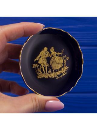 Миниатюрная тарелочка Limoges, декорирована золотом 22К